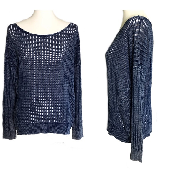 cf5483cee8 Cloth   Stone Anthro Off-Shoulder LS Open Knit M